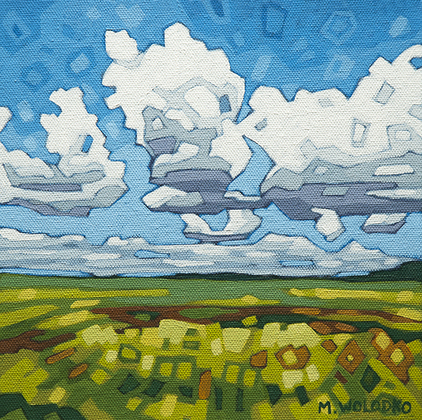 """A Mix of Sun and Clouds 8""""x8"""""""
