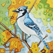 """Blue Jay 8""""x8"""" (sold)"""