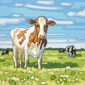 "Cow 8""x8"""