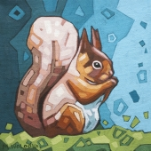 """Red Squirrel 8""""x8"""""""