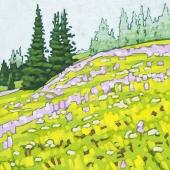 """Sun Peaks Meadow 8"""" x 8"""""""